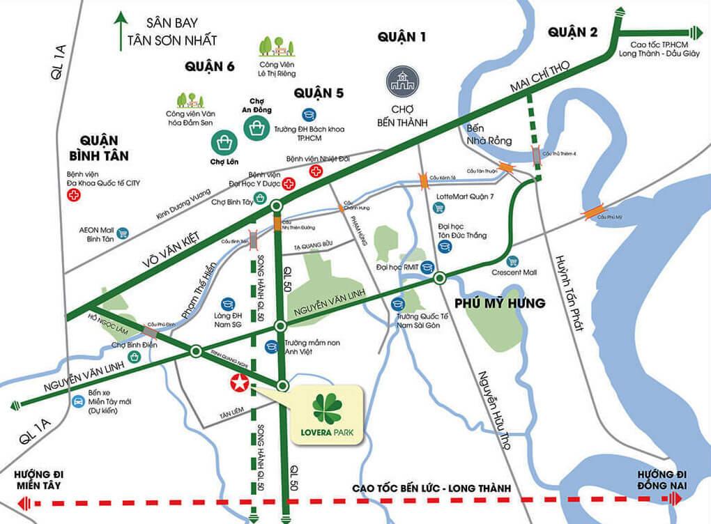 Vi Tri Dự án Lovera Park Khang Điền Bình Chánh