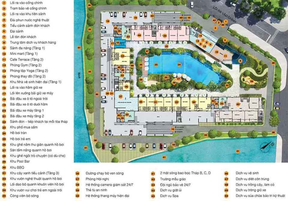 50 Tiện ích của căn hộ Jamila Khang Điền quận 9