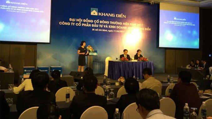 Đại hội cổ đông Khang Điền năm 2017