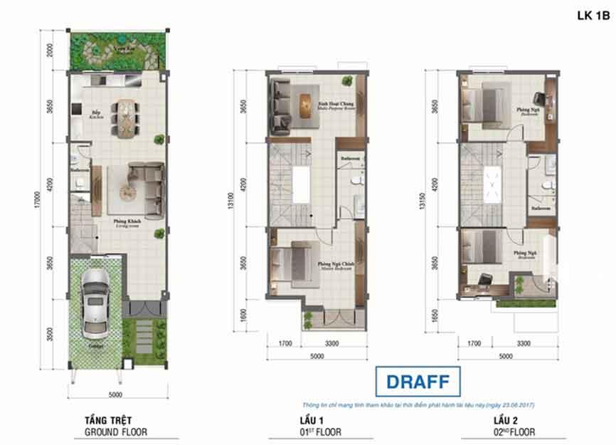 dự án rosita Khang điền quận 9 - Mau-1B mẫu thiết nhà
