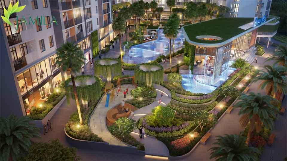 Công viên nội khu Dự án căn hộ Jamila Khang Điền quận 9