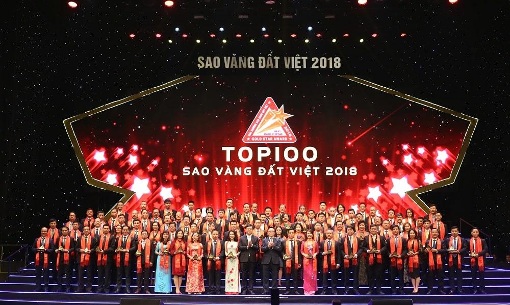 Khang Điền nhận giải thưởng Sao Vàng đất Việt 2018 Hinh 3