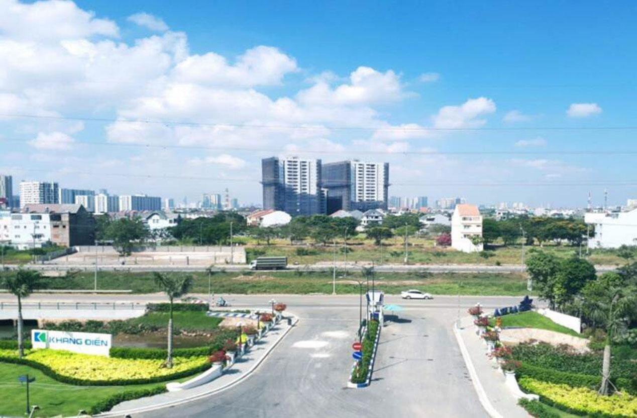 View trước cổng Safira quận 9