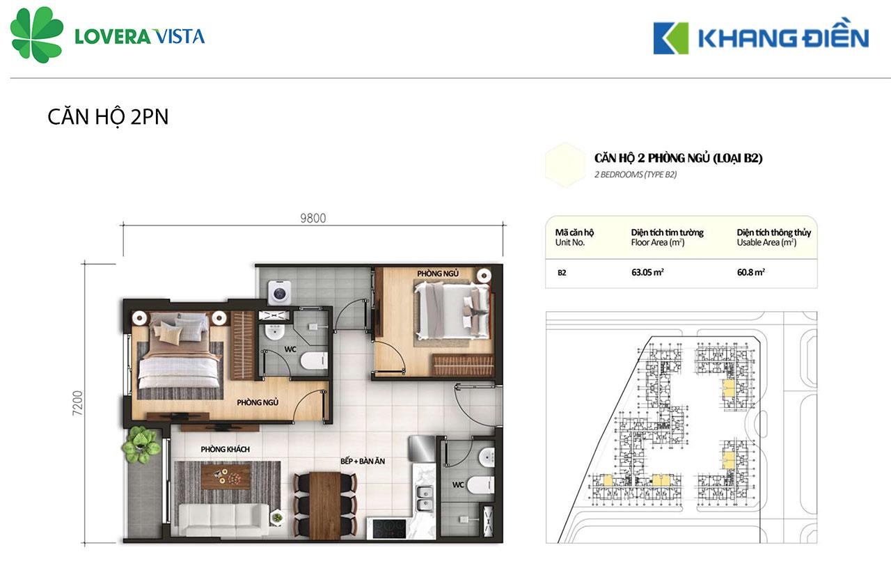 Thiết kế căn hộ Lovera Vista B2